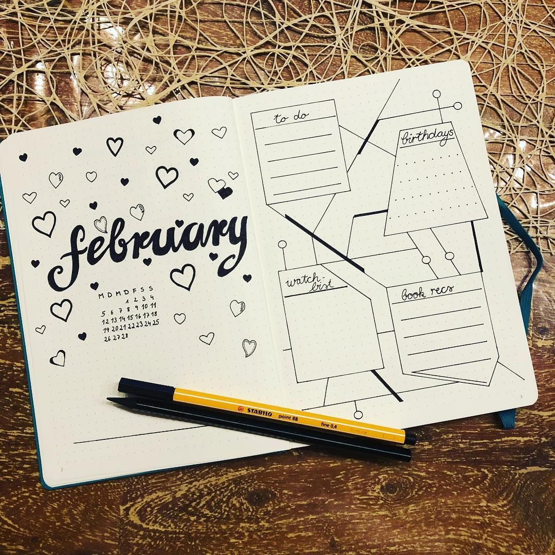 How To Do A Cover Page Bullet Journal Monthly Cover Page February Cover Page Bullet .