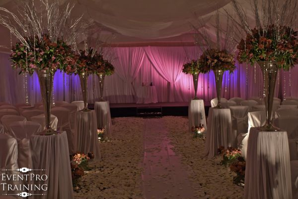 Ceremony Reception In The Same Room Split Half With A D Wall Backdrop