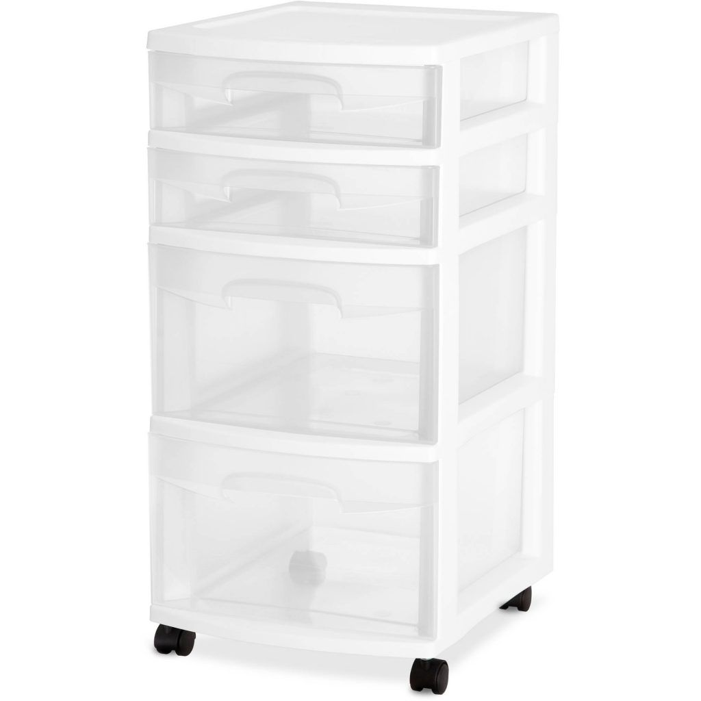 Sterilite  Drawer Plastic Cart With Wheels