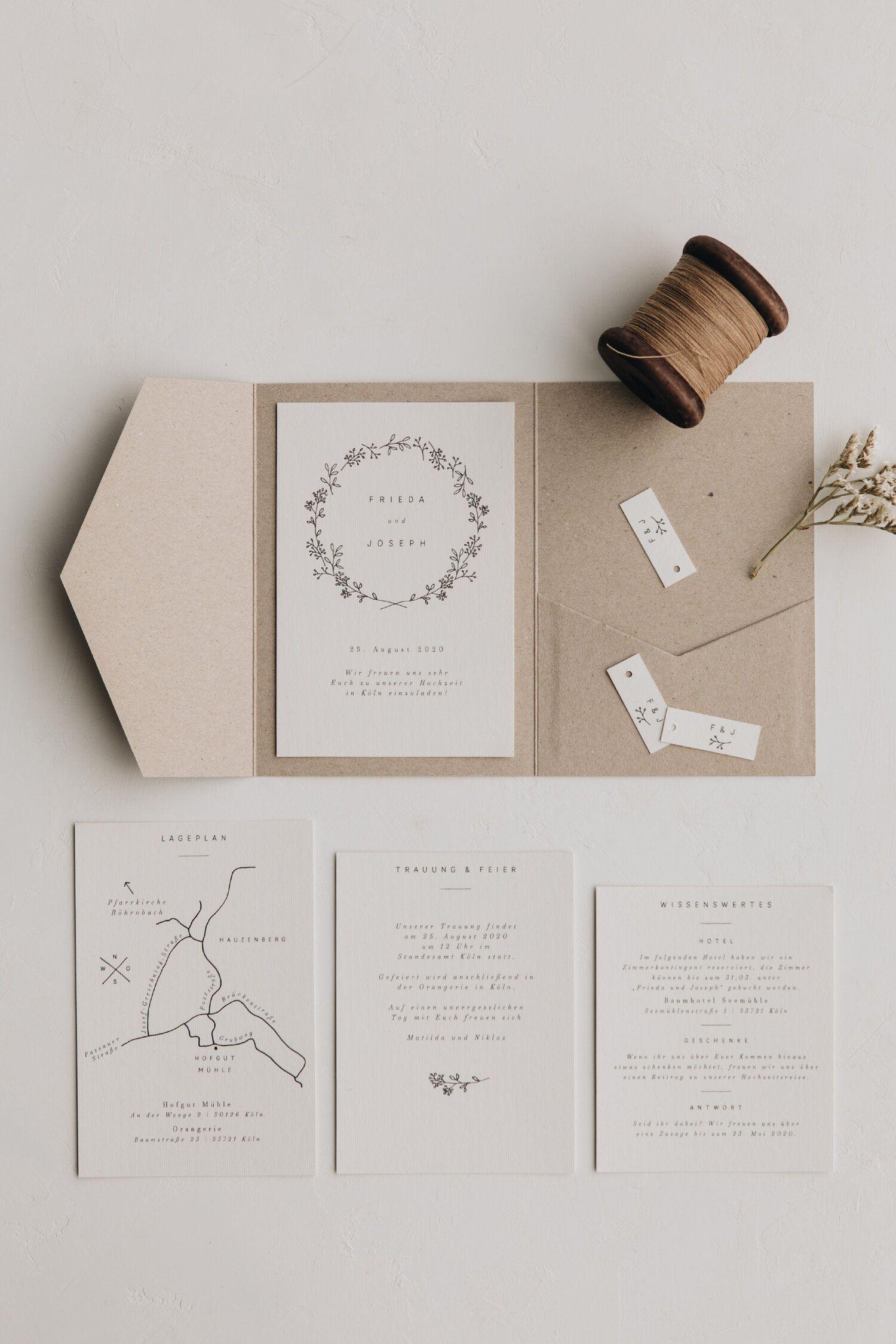 Pocket Fold Einladung Ivy Traumanufaktur Letterpress Studio Hochzeitspapeterie Hochzeitsfotogr Hochzeitseinladungen Diy Hochzeitseinladung Einladungen