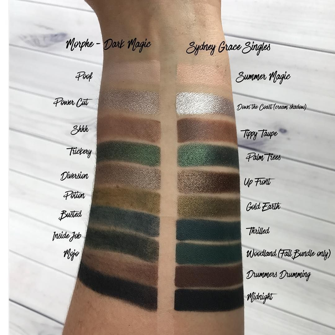 Sydney Grace Cosmetics dupe of the Morphe Dark Magic