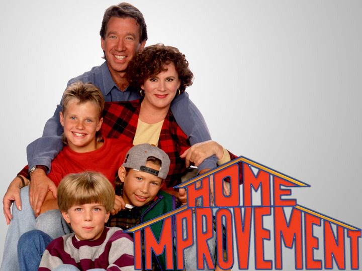 Home Improvement Cast Of The American Television Sitcom Starring Actor   Comedian Tim Allen  And