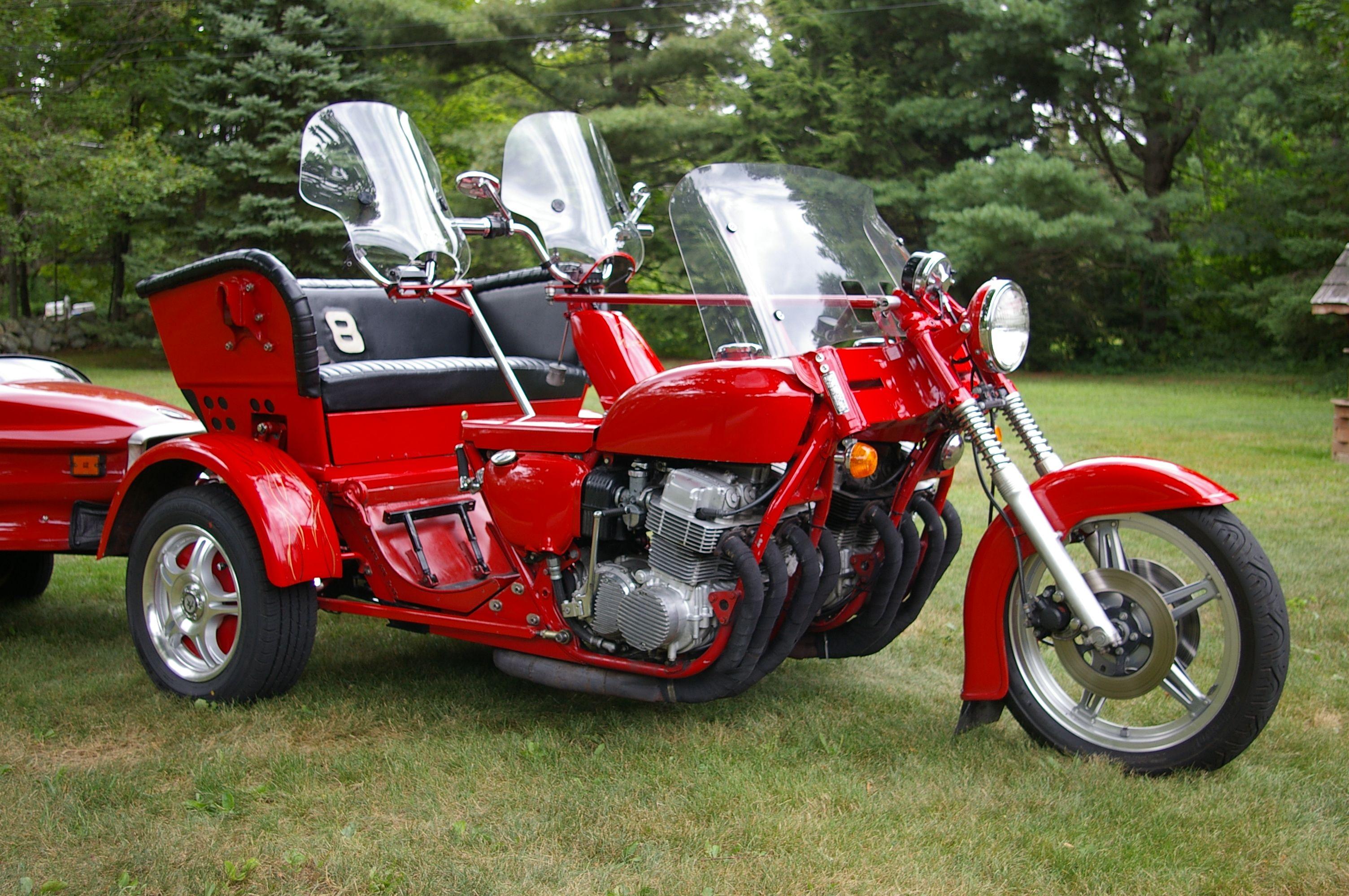 Custom trikes car custom eight cylinder honda trike draws attention ride ct