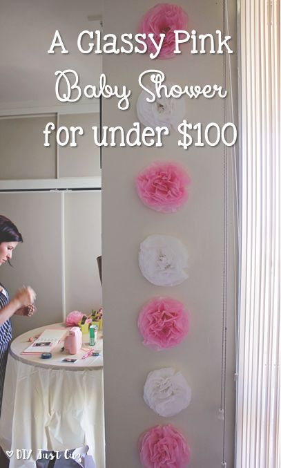 A Classy Pink DIY Baby Shower for Under $100 Diy baby shower, Baby