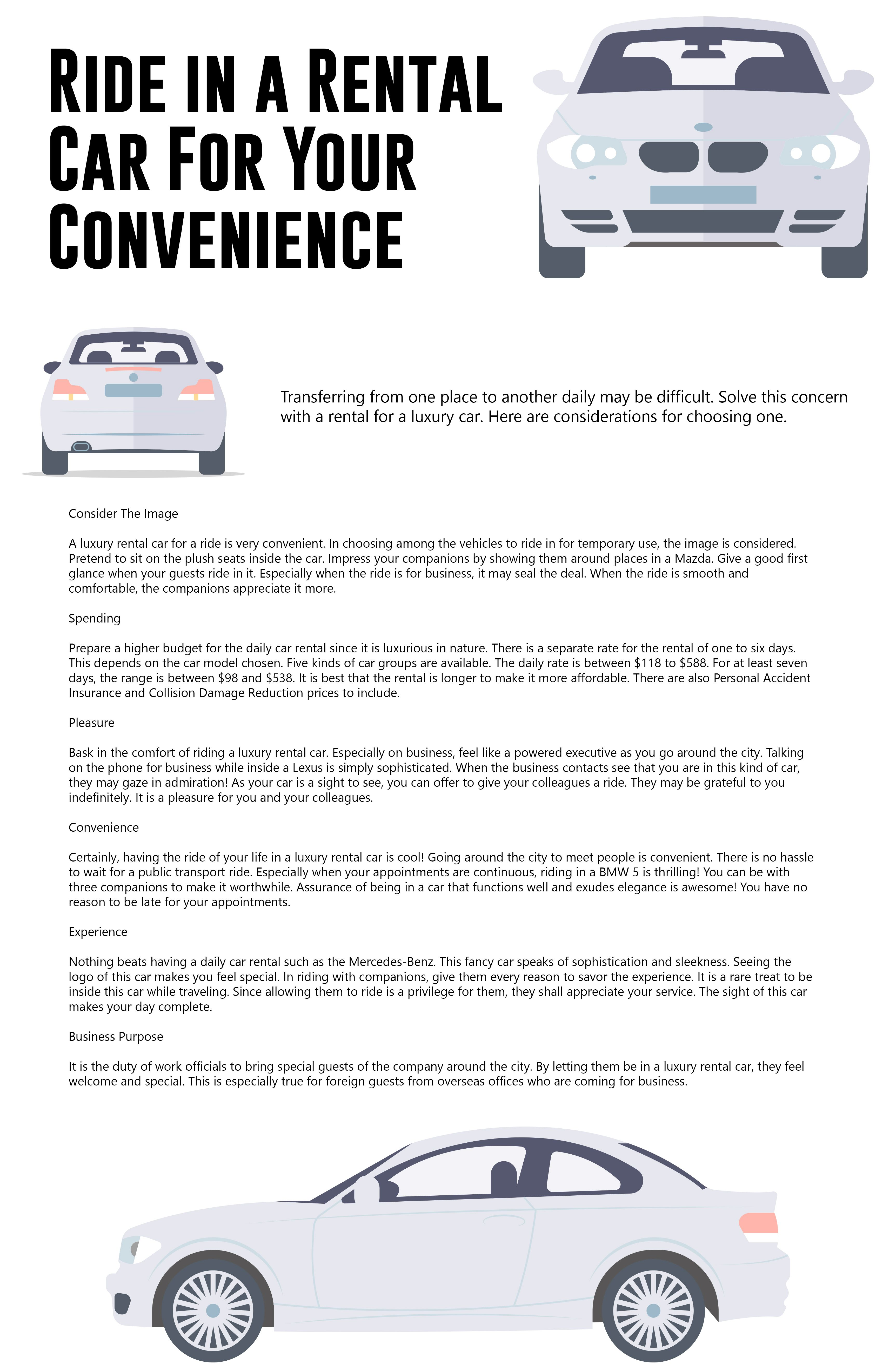 Ride In A Rental Car For Your Convenience Car Rental Car Hire Car Rental Service