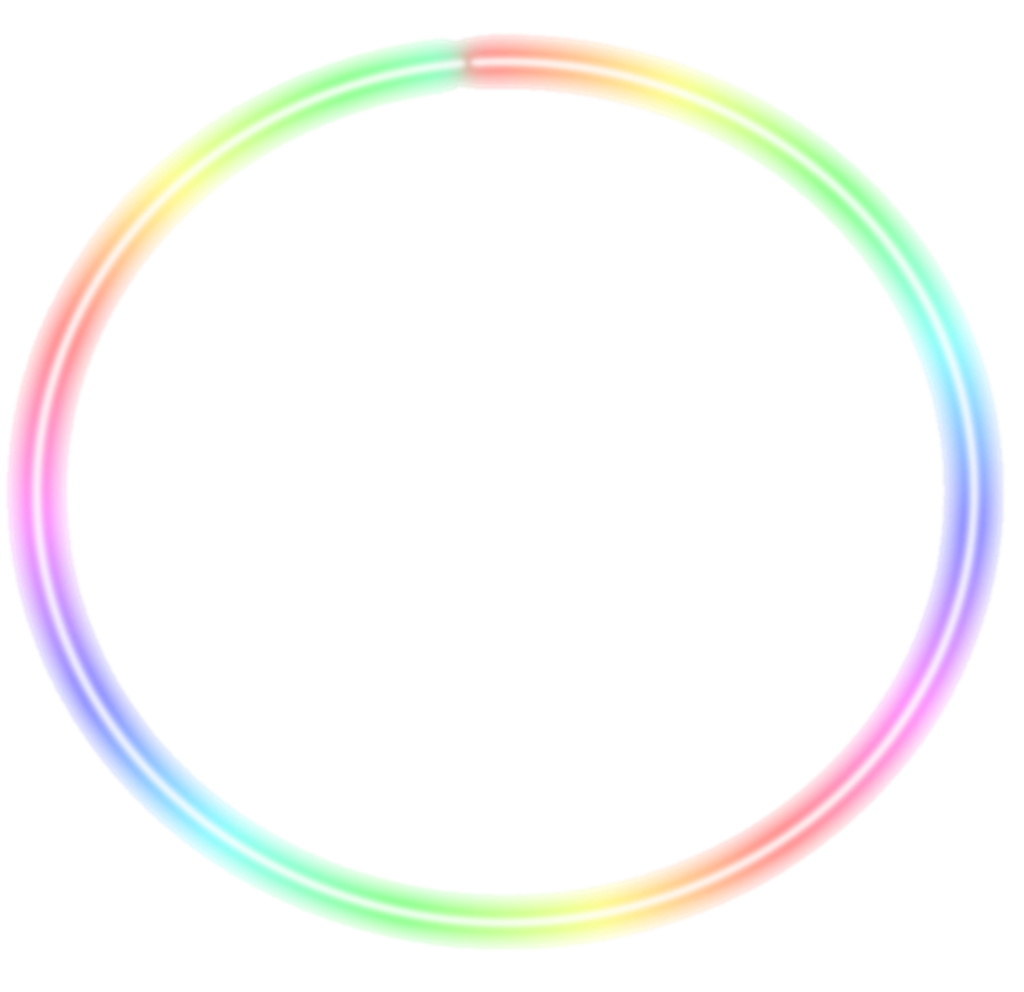 Neon Neoncircle Rainbow Colorful Circle Circles Lights In 2021 Circle Light Neon Png Neon