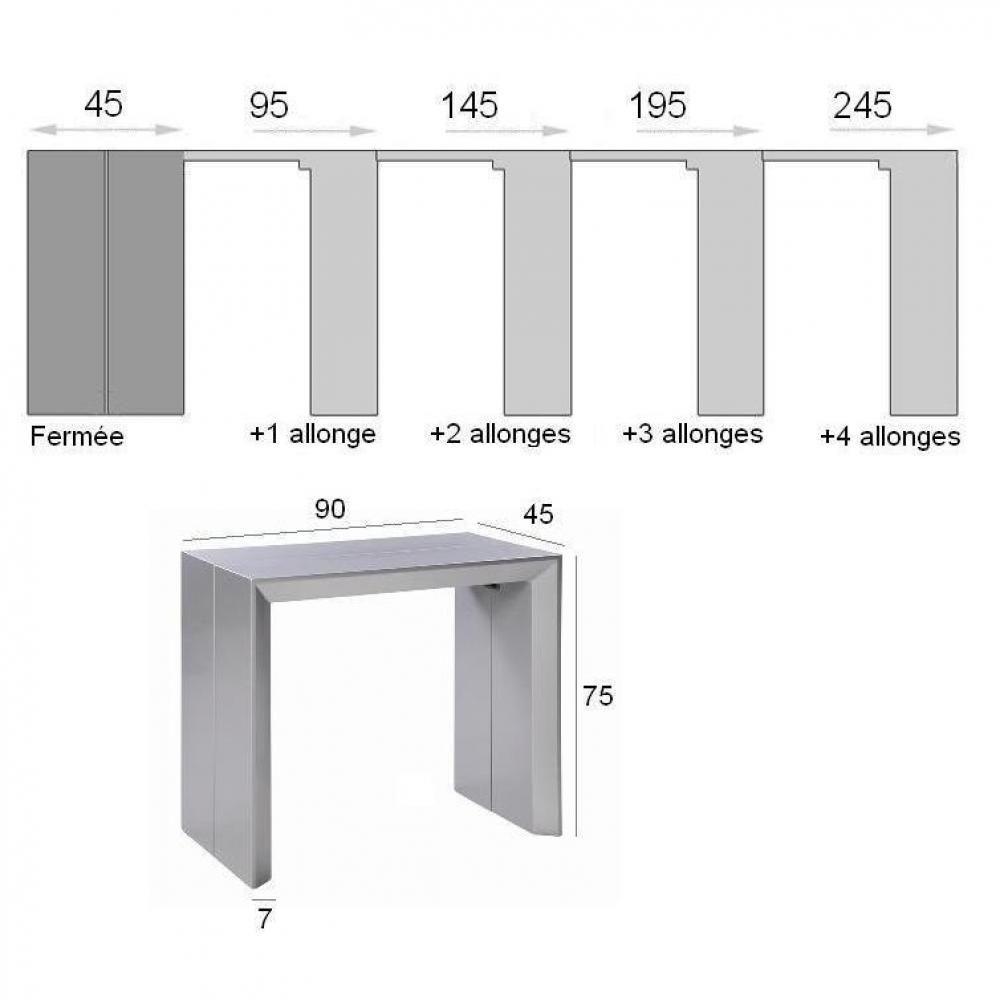 Console Extensible En Table Repas Extenso Deluxe Bois Wengue Fonce 12 Couverts Console Table Table Home Decor
