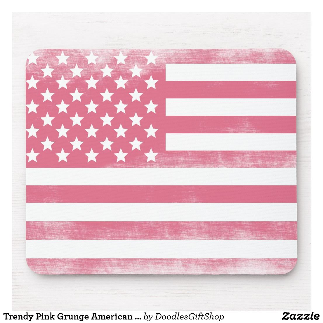 Trendy Pink Grunge American Flag Mouse Pad Zazzle Com In 2020 Pink Flag Pink Aesthetic