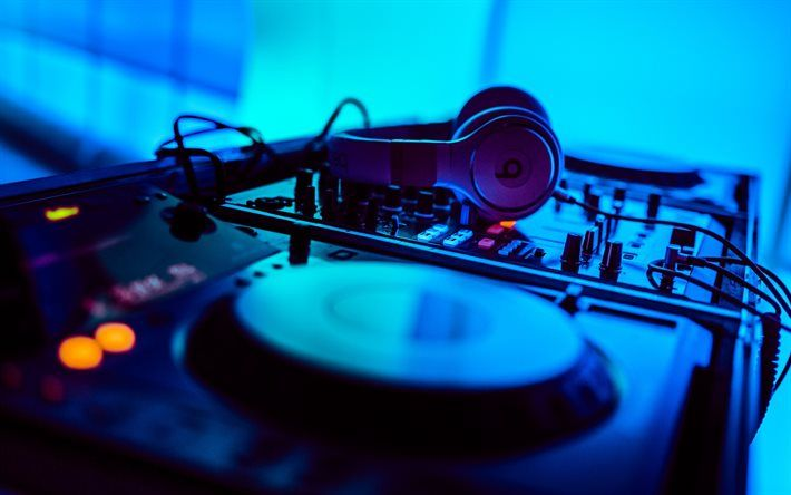 Download Wallpapers Dj Electronic Music Disco Dj Console Edm
