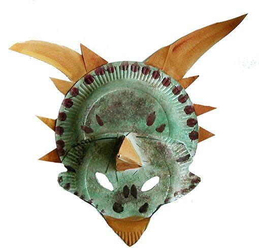 meilleur service Promotion de ventes Excellente qualité Masque de dinosaure à trois cornes | Masque de dinosaure ...