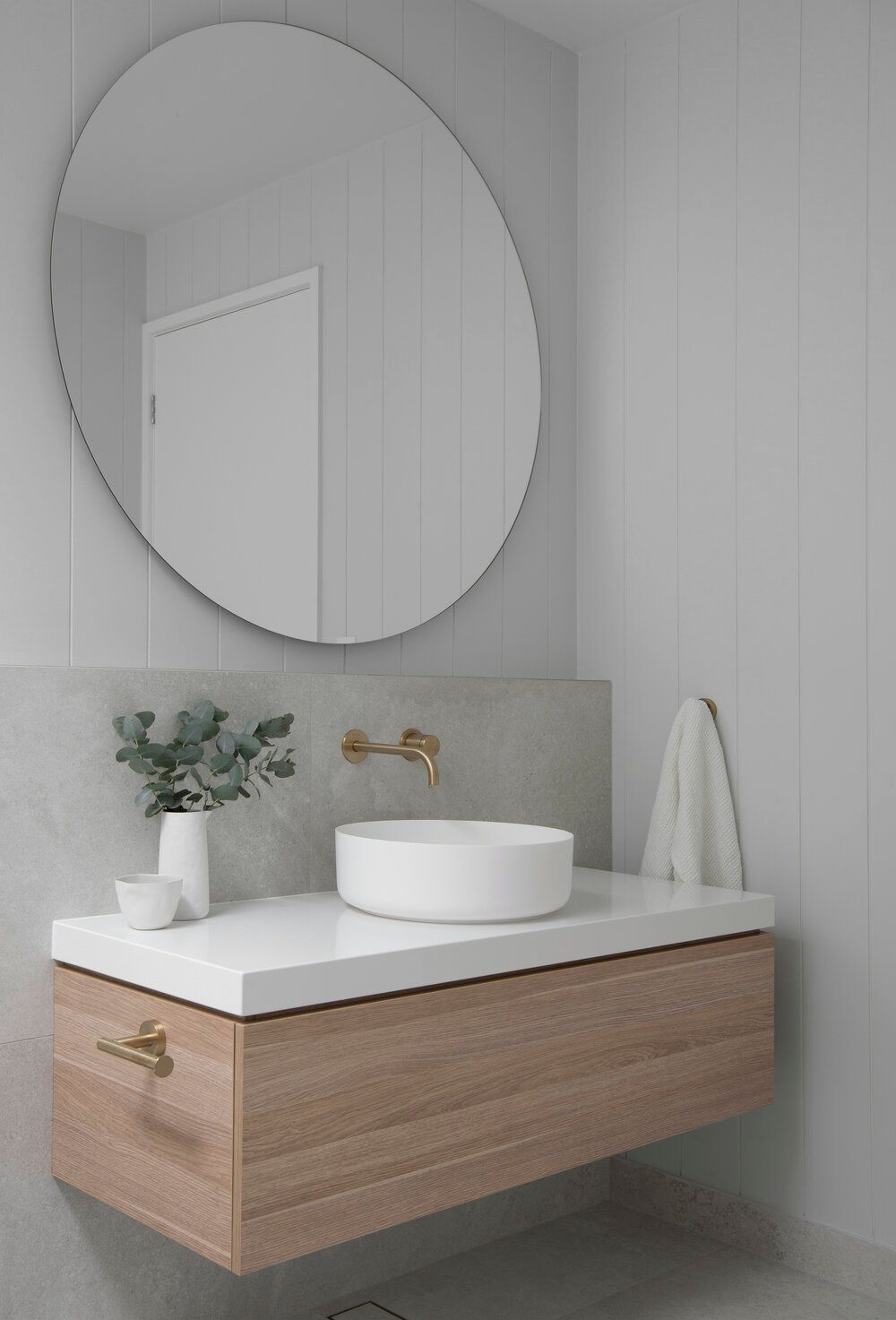 Classic Coastal Bathroom Colour Scheme — Zephyr + Stone