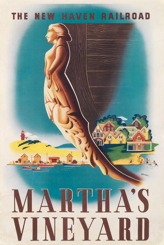 "Martha""s Vineyard - The new haven railroad - 1945 - (Ben Nason) -"