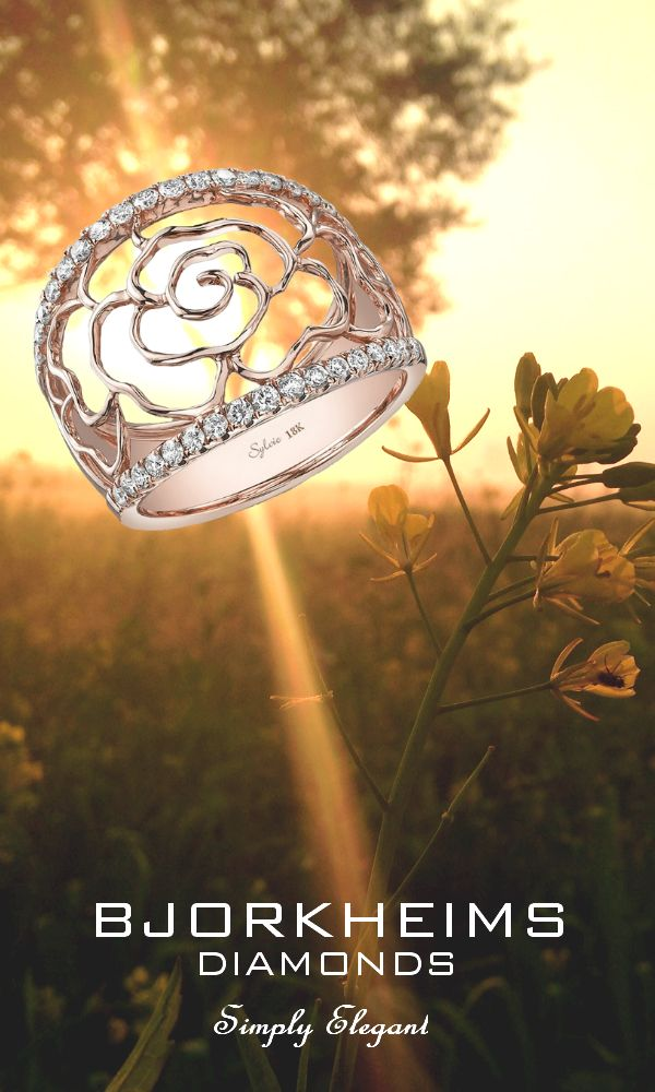 Keep in Touch with Nature.  Find this ring here: https://www.sylviecollection.com/floral-rose-gold-diamond-ring-fr168