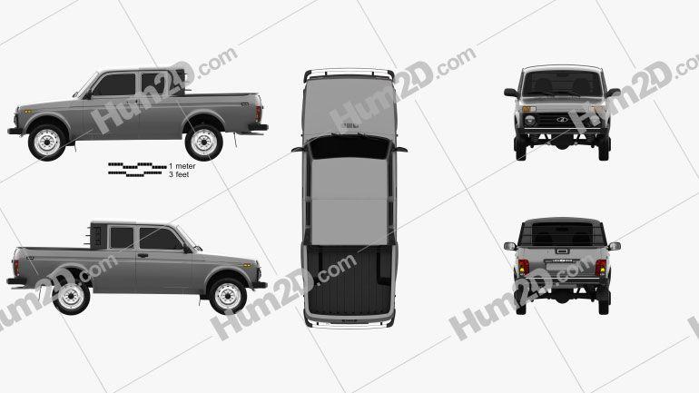 Vaz Lada Niva 4 4 2329 Pickup 2015 Clipart Clip Art Niva Pick Up