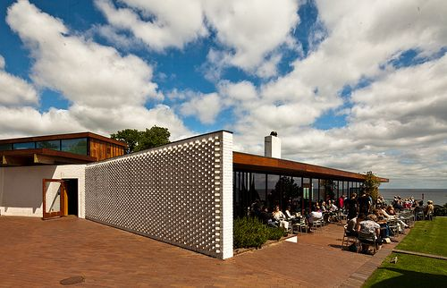 Louisiana Museum of Modern Art, Humlebæk, Denmark, 1958, by Jørgen BO and Vilhelm Wohlert