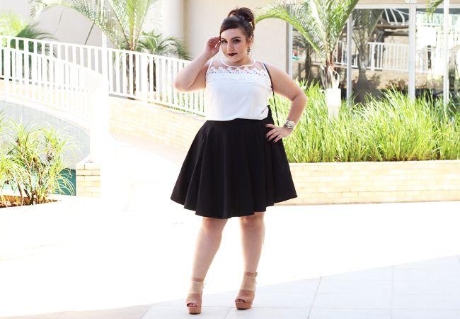 652668b6c Gordinha de saia godê | Moda plus size | Fashion, Plus size e How to ...