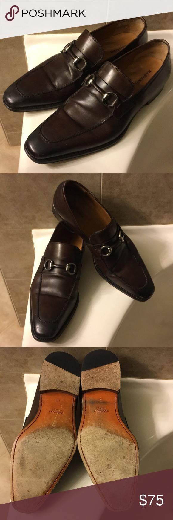 Magnanni dark brown dress loafers shoes euc dress loafers dark