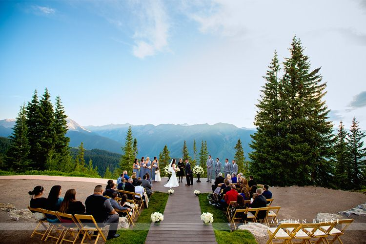 little nell aspen colorado wedding deck ceremony photography by autumn burke