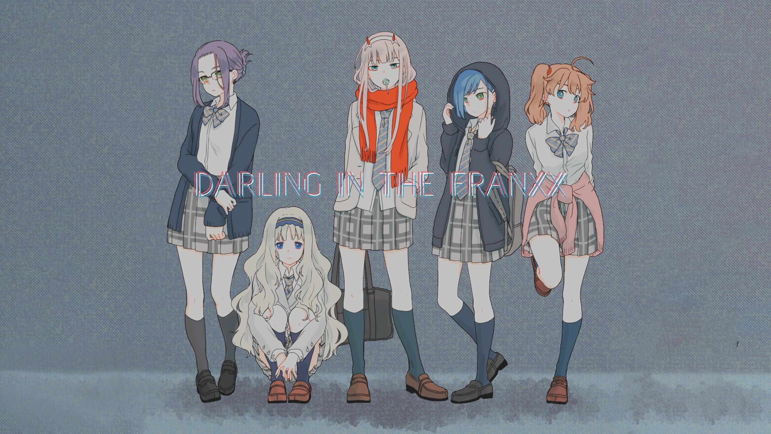 Anime 2560x1440 Darling in the FranXX anime girls Zero Two