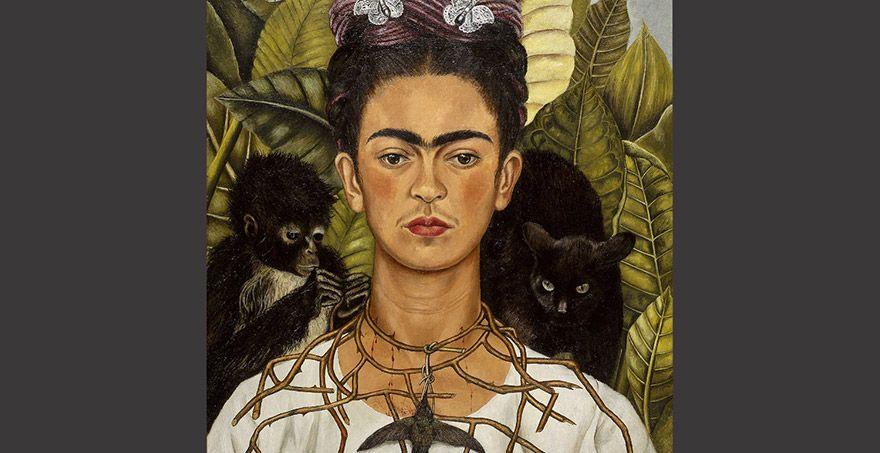 frida-kahlo-autoportrait-au-collier-d-épines-1940