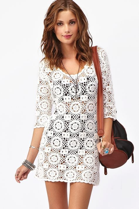 Vestidos crochet mujer patrones - Imagui | Blusas | Pinterest ...