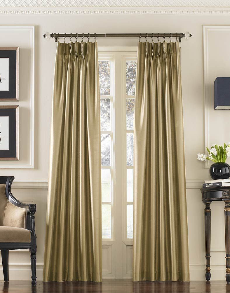 Marquee Faux Silk Pinch Pleat Drapery Curtainworks my curtains for livingroom