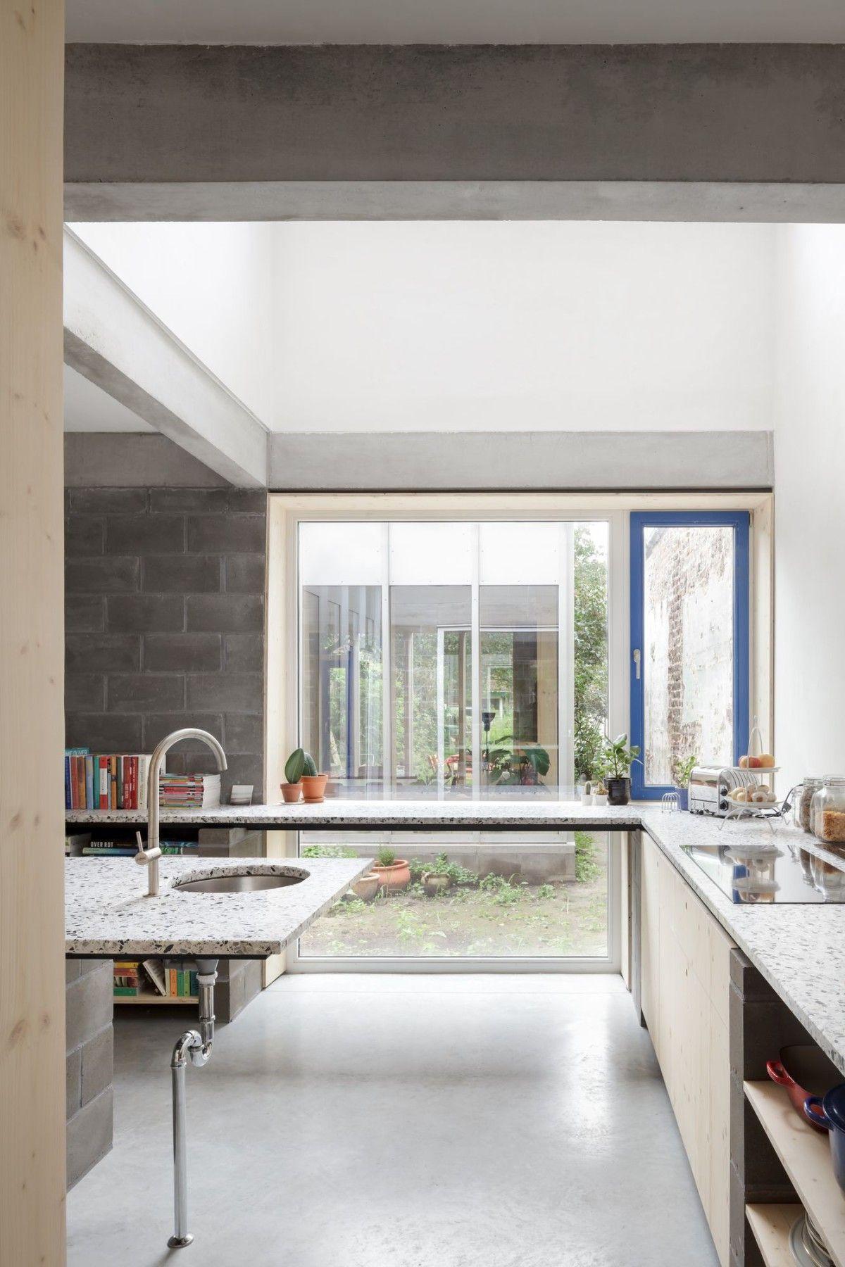 Wolterslaan row house ghent also raamwerk interior in rh pinterest