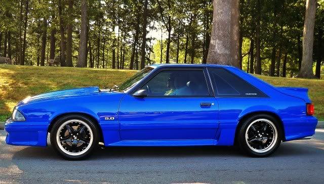 93 Mustang Gt Coupe Fox Body Mustang Mustang Gt Blue Mustang