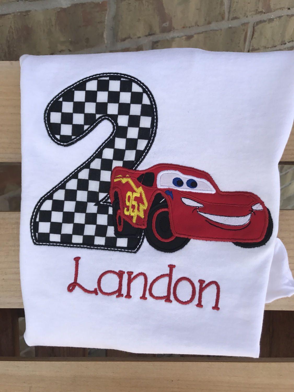 Lightening mcqueen birthday, cars birthday shirt ...