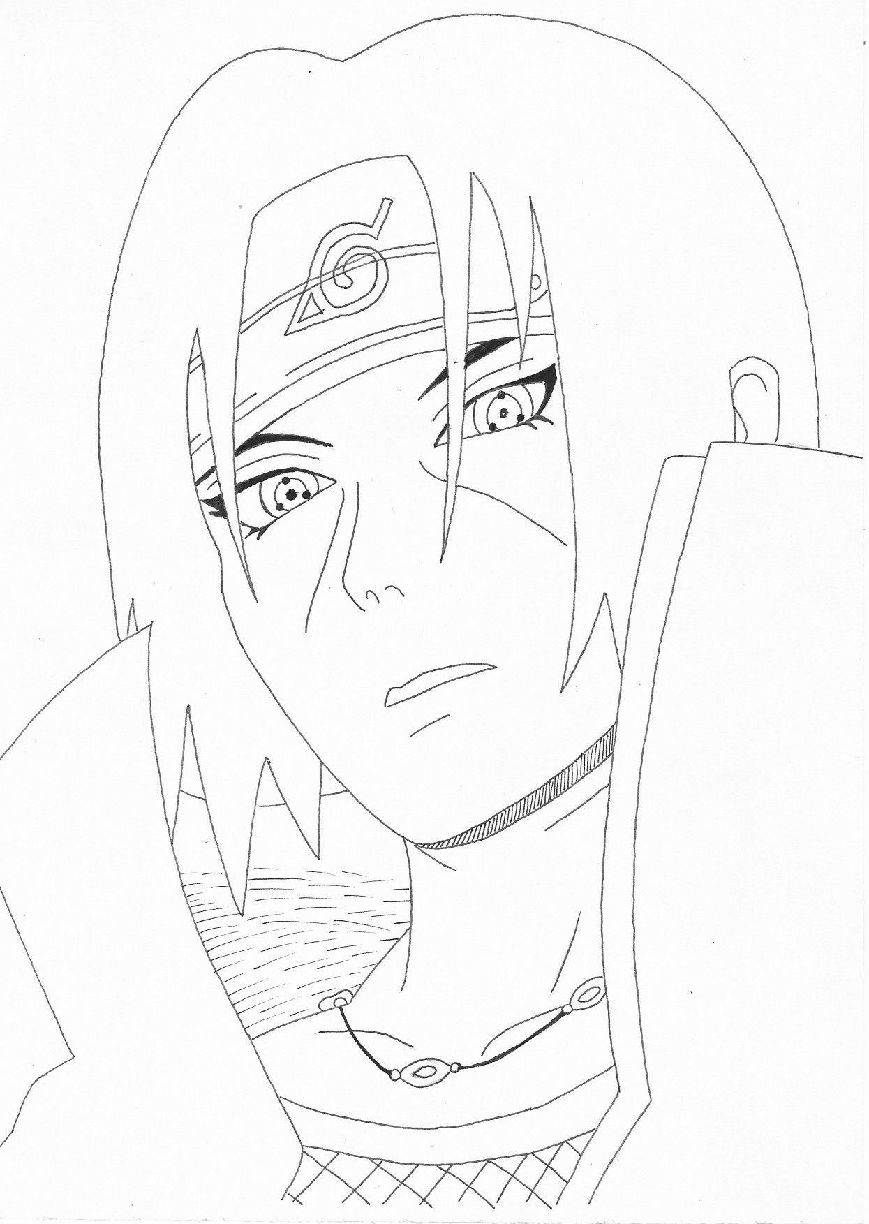 Itachi Desenho Desenhos Para Colorir Naruto Desenhos Diabolicos