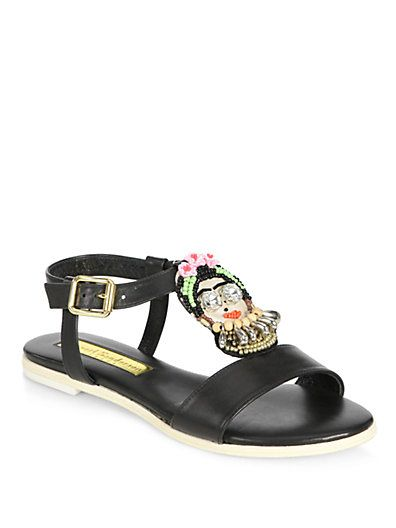 Rupert Sanderson Woman Cara Embellished Leather Sandals Black Size 36 Rupert Sanderson Nl9UGjhnK