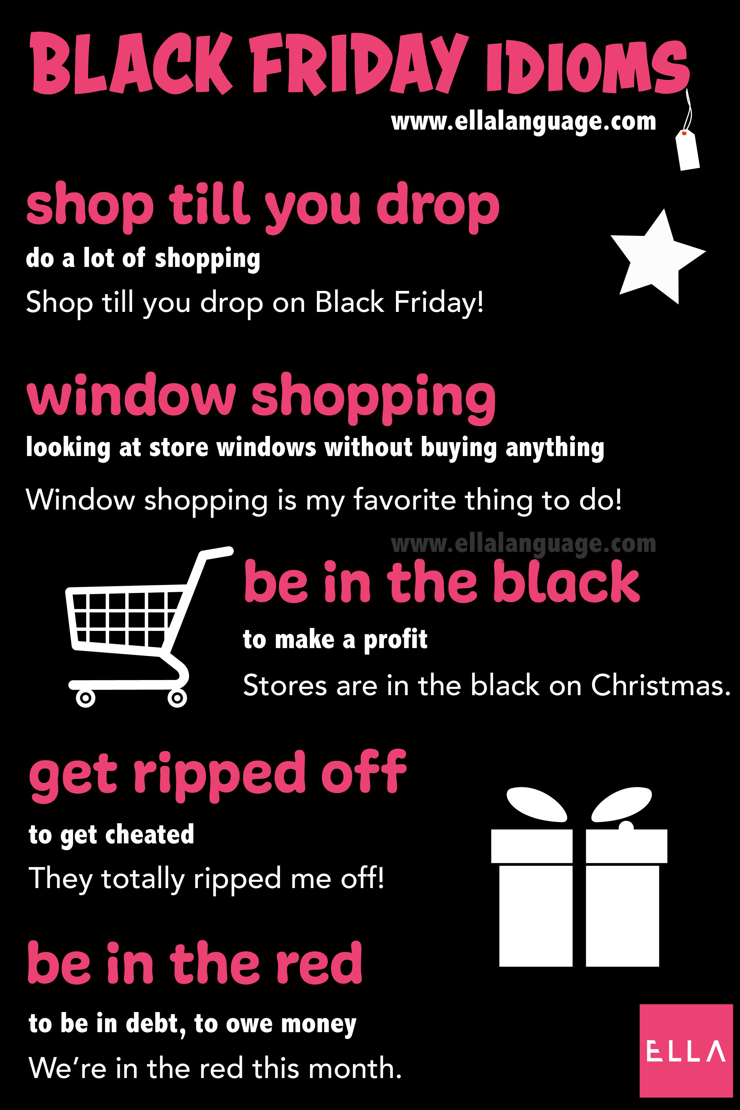 Black Friday Idioms For Esl Blackfriday Idioms Esl