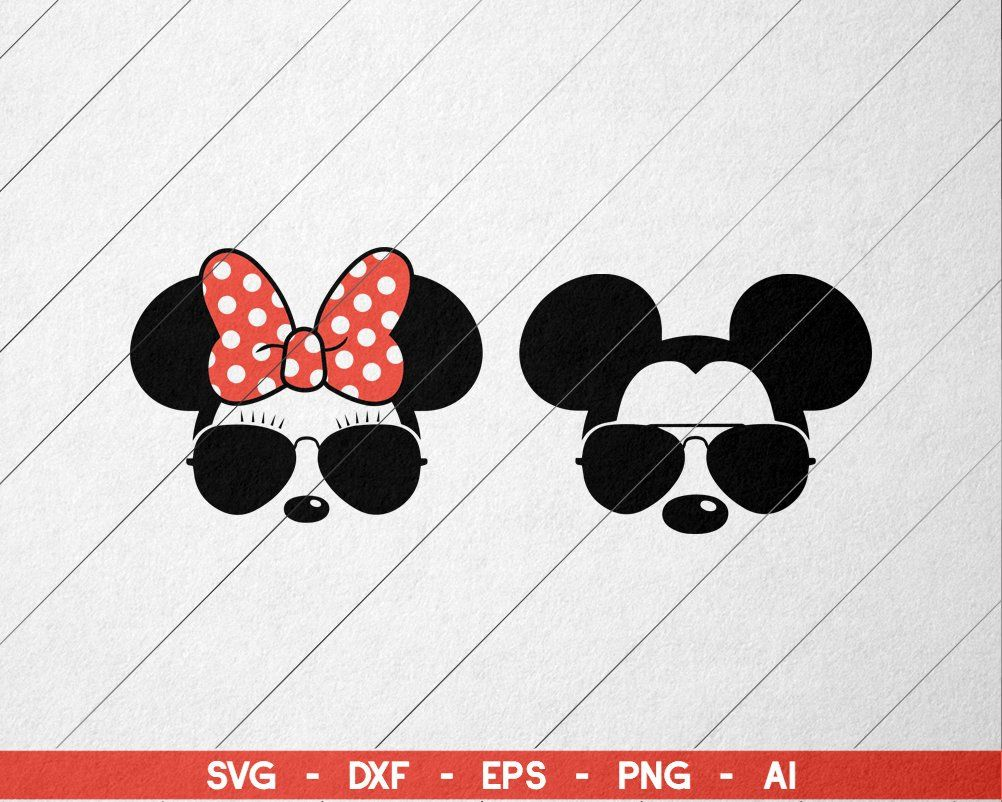 Disney Family Shirts SVG Bundle Mickey mouse sunglasses