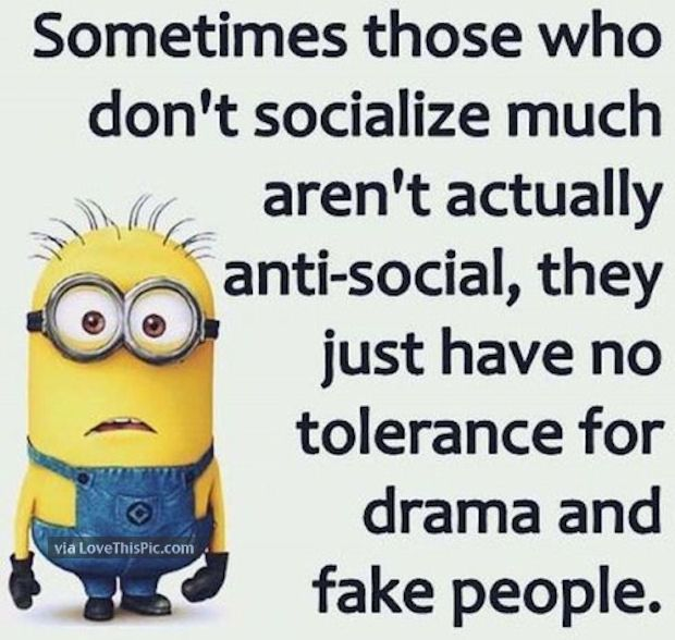 Sometimes Those Who Don't Socialize Much Are Just Sick Of Drama