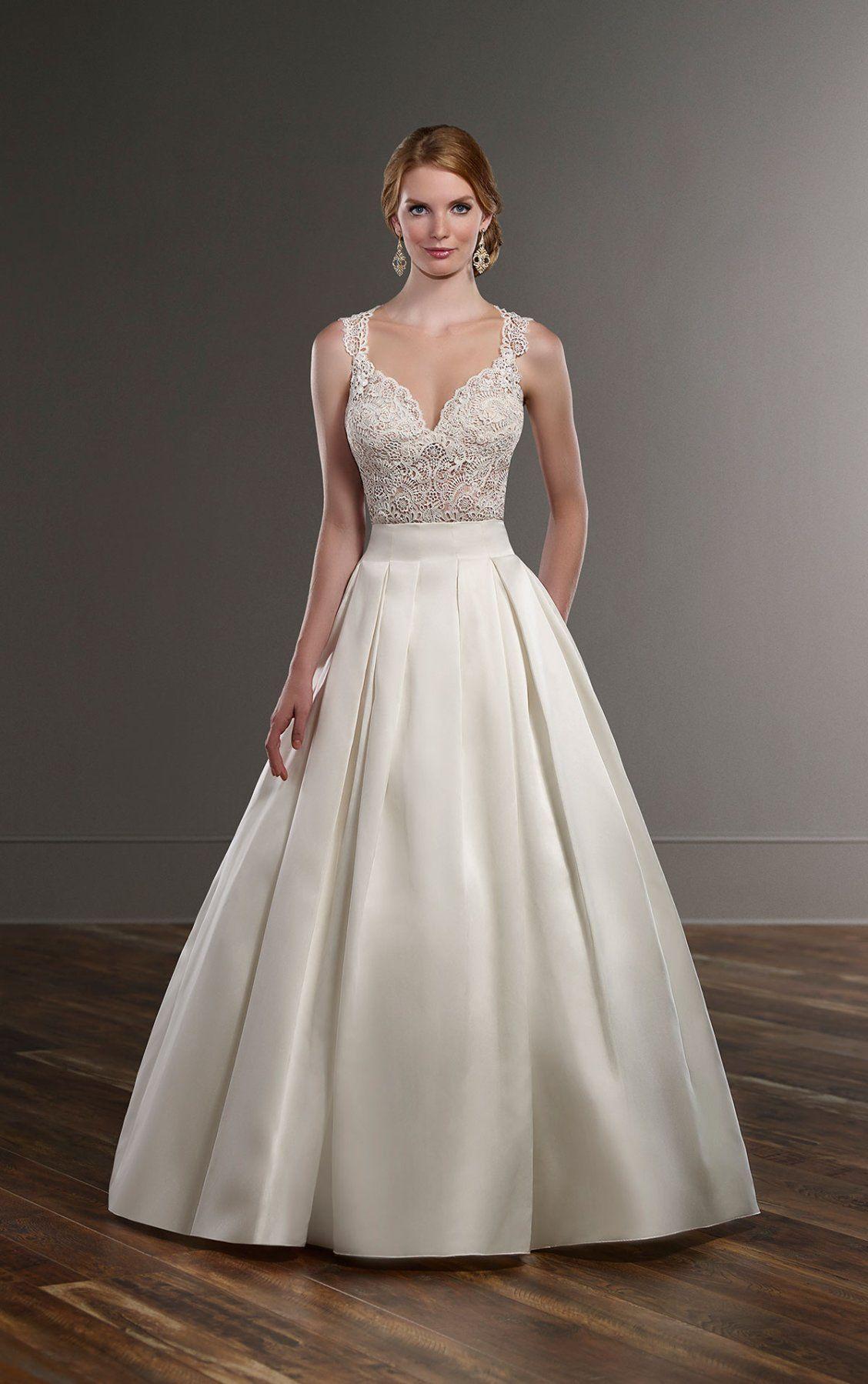 Traditional wedding dress separates martina liana separates