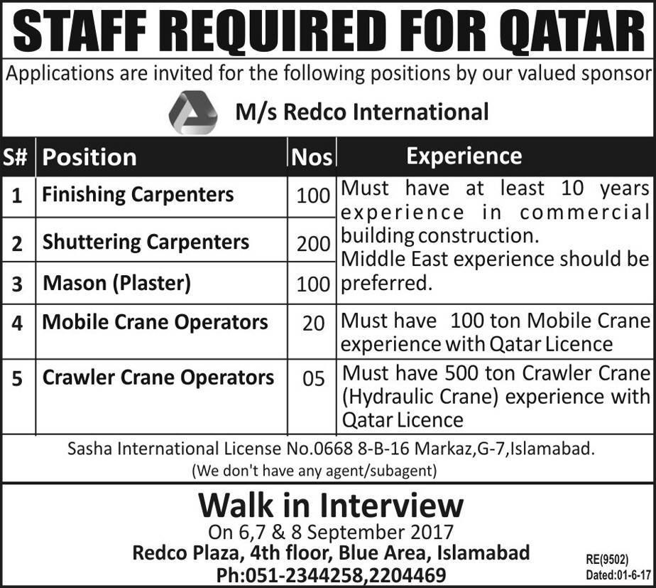 Radco International Company Is Providing Overseas Jobs