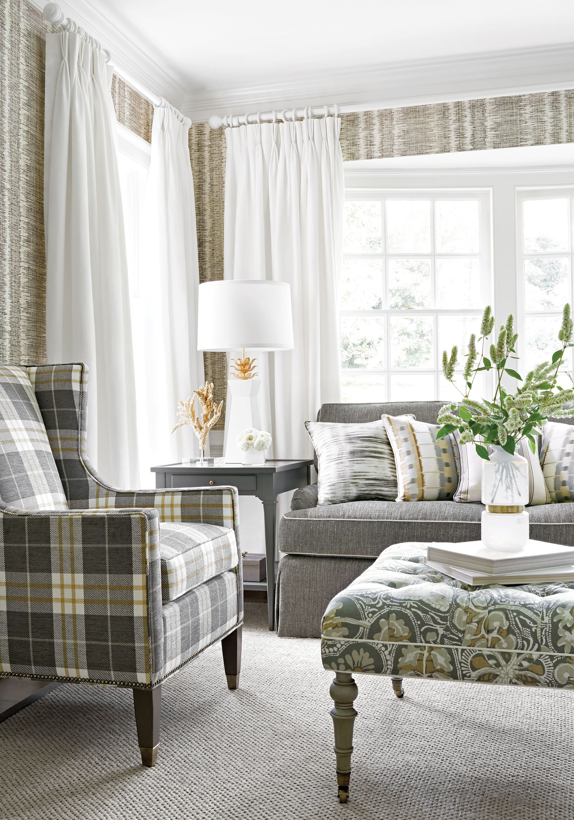 Thibaut danube ikat from trade routes collection fabric - The living room lounge houston tx ...
