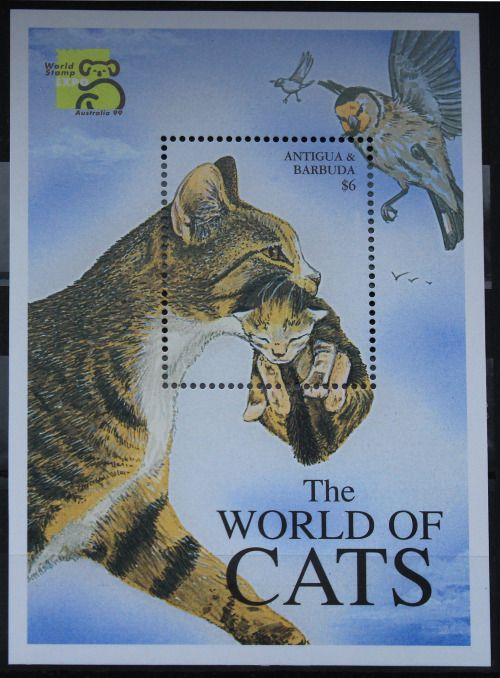 Antigua and Barbuda - The World of Cats - 1999 by Кот Ученый