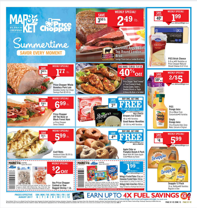 Price Chopper Weekly Flyer August 6 12 2017 httpwww