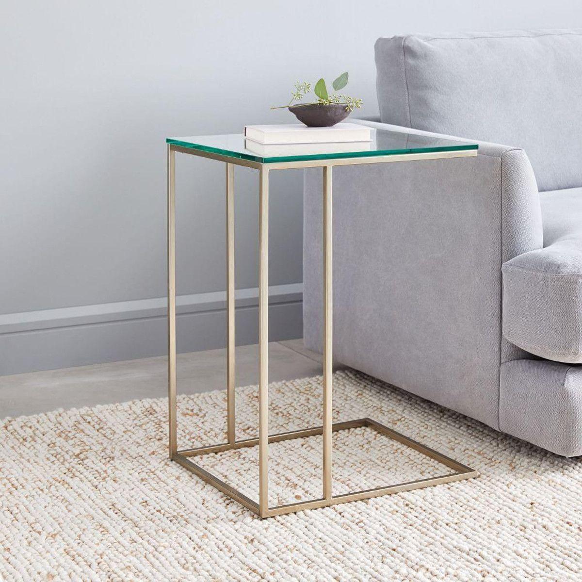 Streamline C Side Table 41 Cm Glass Marble Side Tables Glass Side Tables Marble Living Room Table