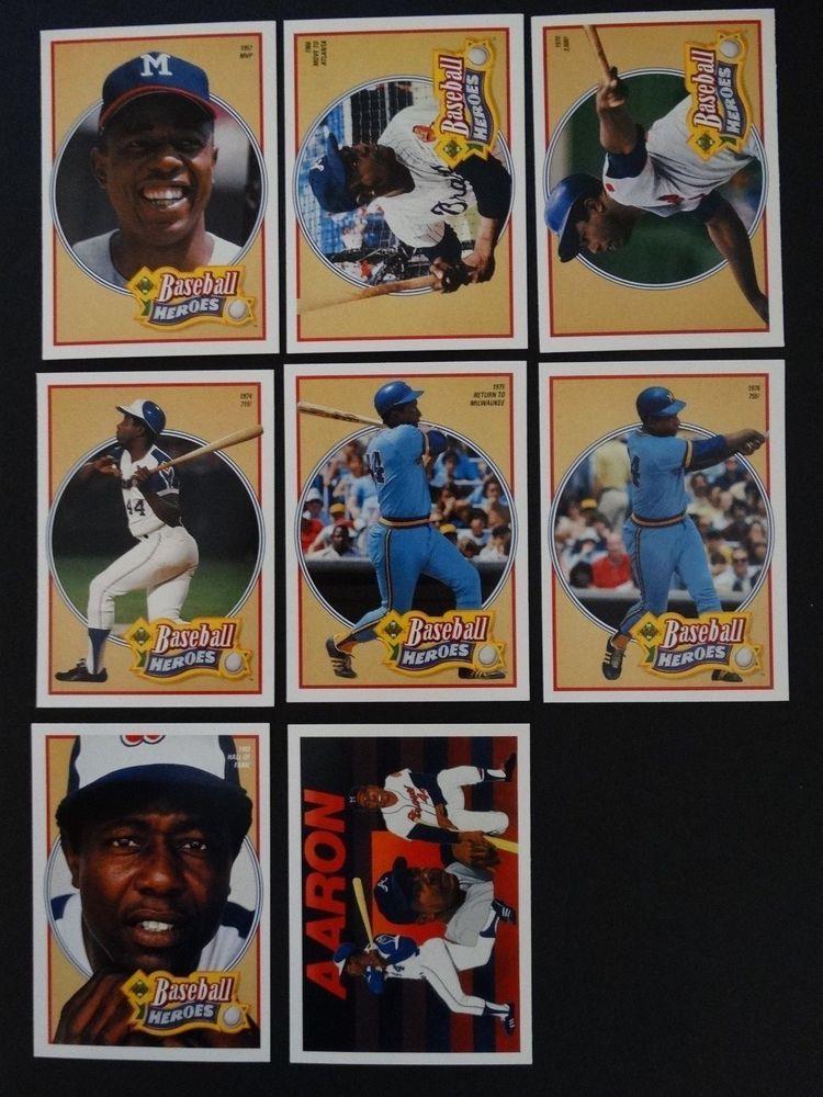 1991 upper deck ud hank aaron braves baseball heroes set