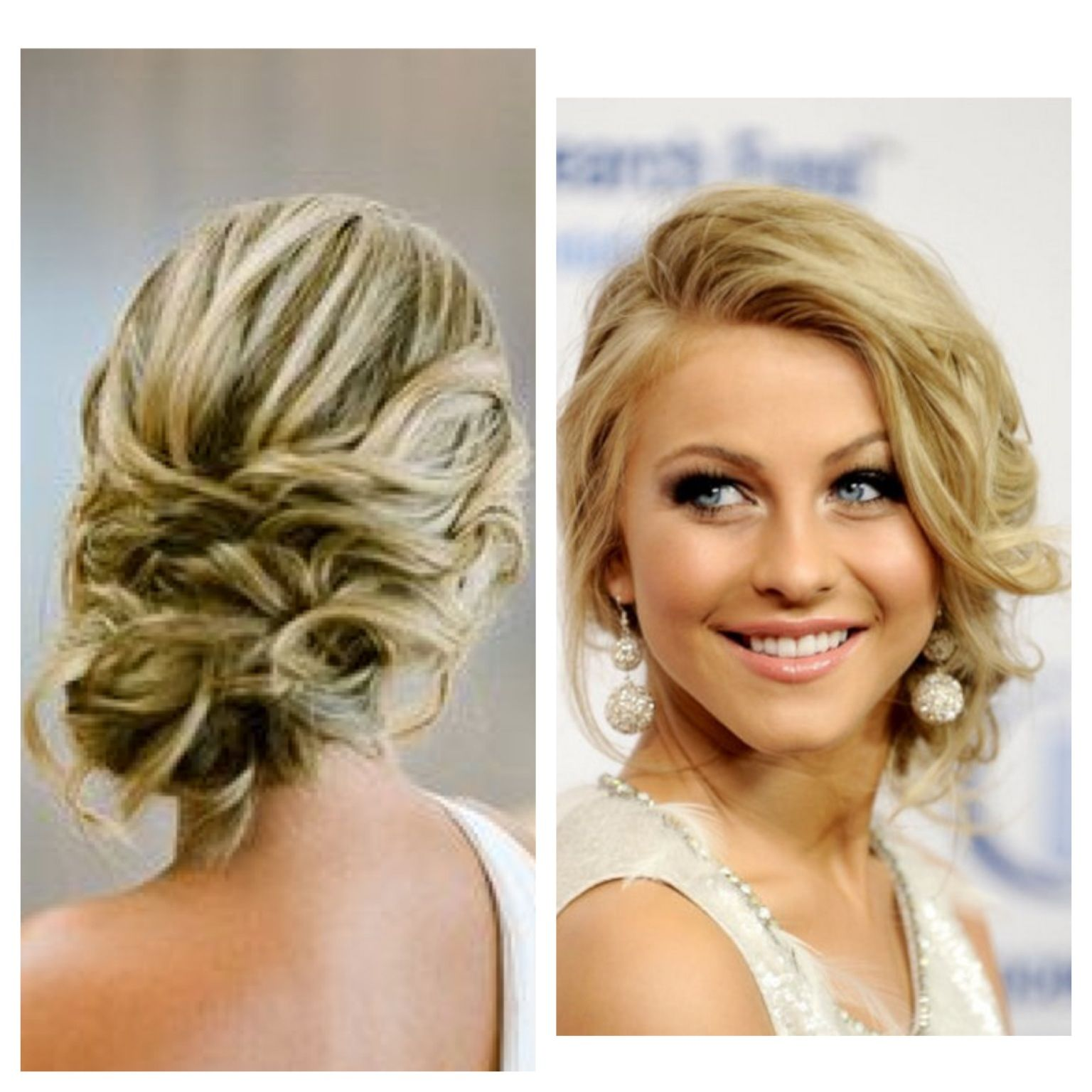 front and back.very pretty | wedding: hair and makeup