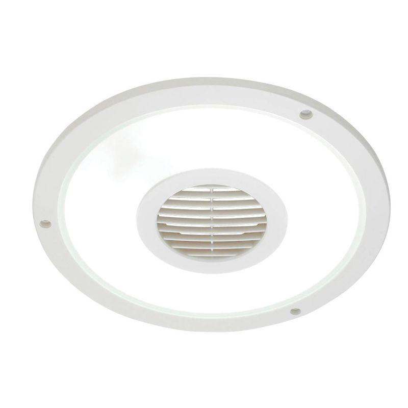 Heller 250mm Round White Exhaust Fan With Light Exhaust Fan