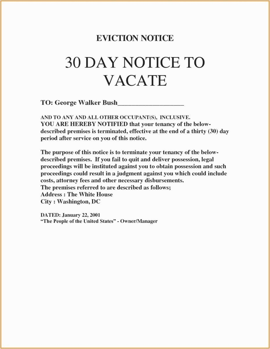 Eviction Notice Letter Template New Roommate Eviction Letter