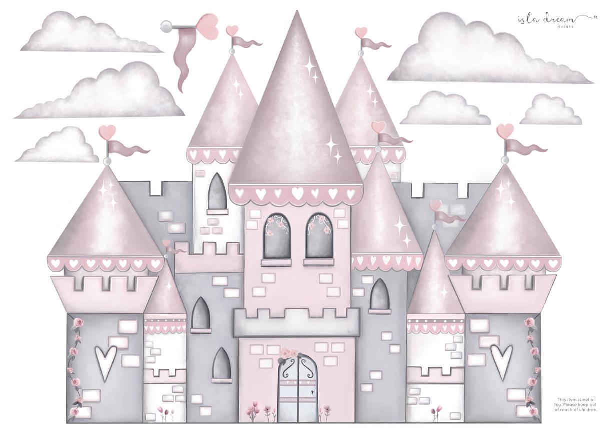 A2 Princess Castle With Free Princess Wall Decals Kids Wall Decals Princess Castle Wall Decals