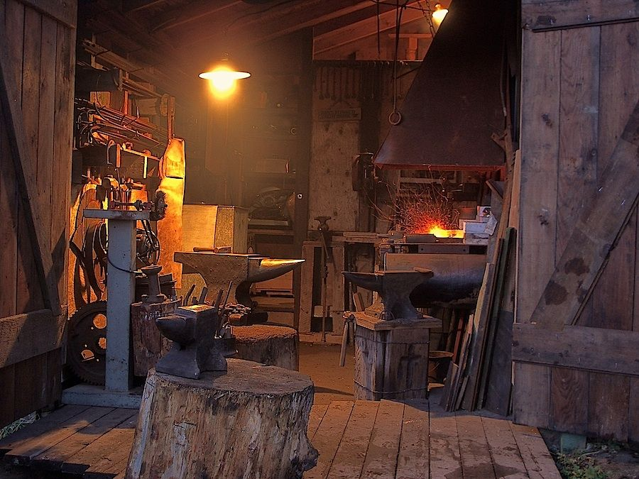 blacksmith workshop. forge island blacksmith workshop o