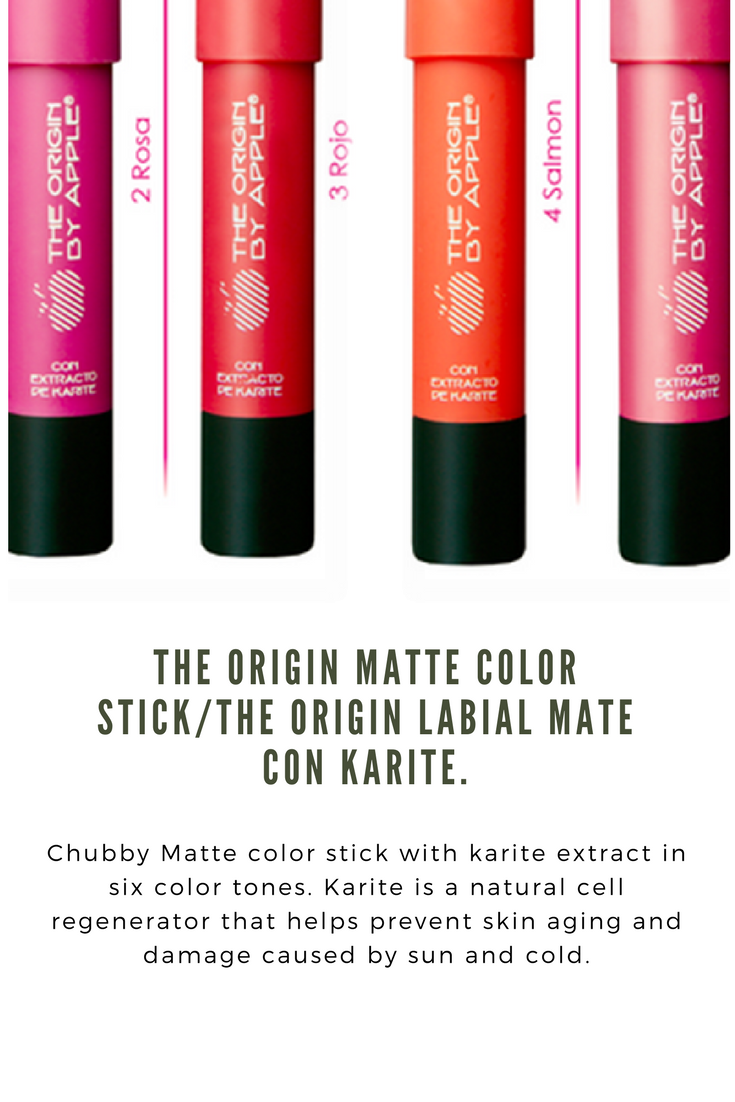 New The Origin matte color stick by apple cosmetics