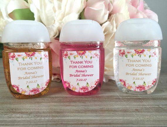 Floral Baby Shower Favor Label Bridal Shower Favor Hand