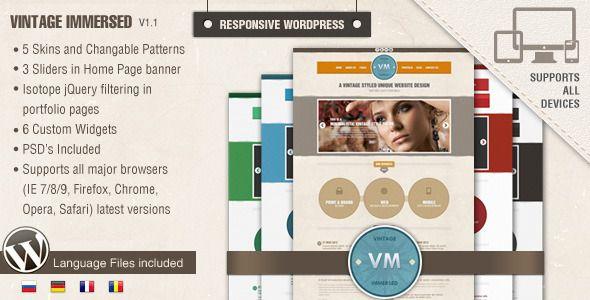 DesignThemes: Vintage Immersed | Wordpress | Pinterest