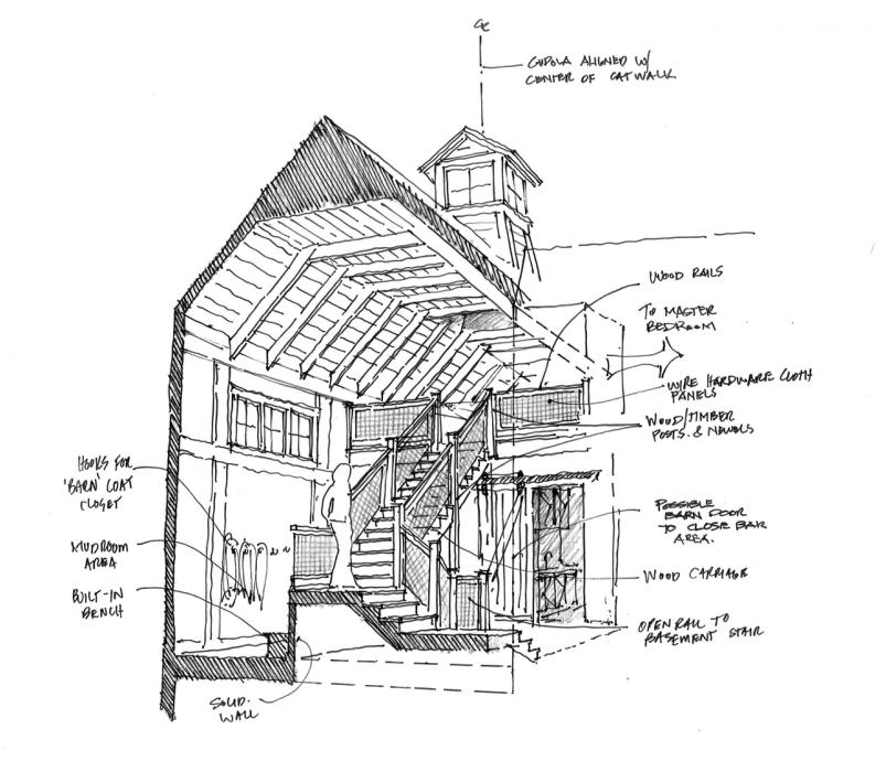 diagrams old barns